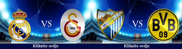 Real Madrid Galatasaray, Malaga Dortmund