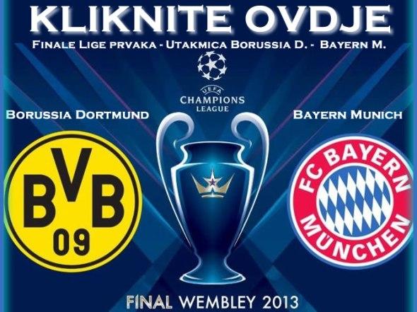 direktan prenos utakmice borussia bayern liga prvaka