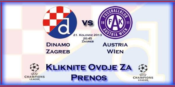 Prenos utakmice: Dinamo - Austria: Kliknite ovdje