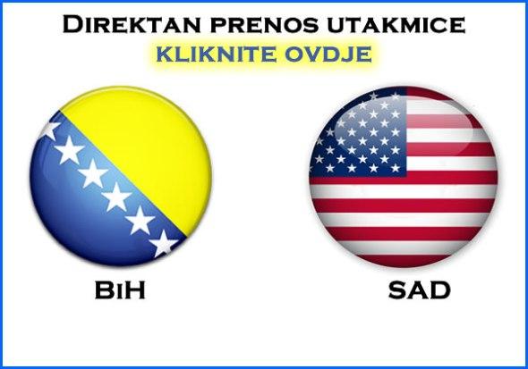 Prenos utakmice Bosna Amerika - Kliknite ovdje