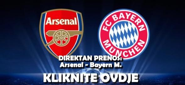 Besplatan Direktan Prijenos Utakmice Arsenal Bayern