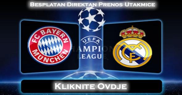 Direktan Prenos Utakmice Bayern Munchen Real Madrid