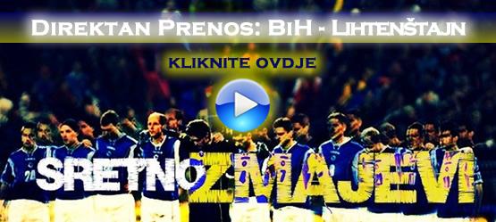 direktan prenos utakmice Bosna Lihtenstajn