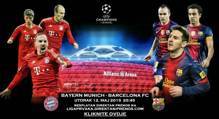 Direktan Prenos Bayern Barcelona Uzivo