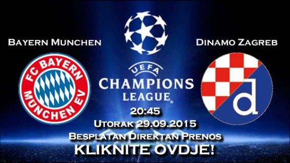 Prijenos utakmice - Bayern Dinamo - Besplatan Direktan Prenos Utakmice Uživo - Live Stream HD Liga Prvaka