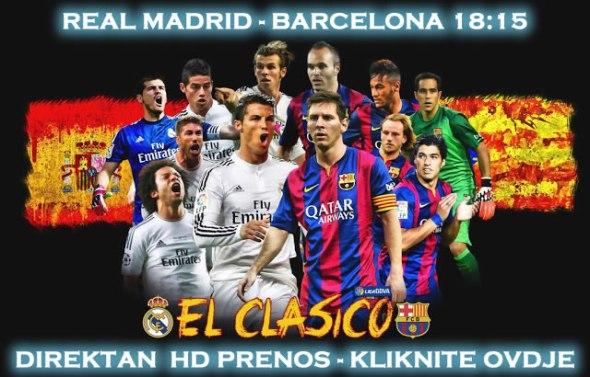 Real Madrid Barcelona Direktan Prenos Utakmice 21 11 2015 Uzivo Besplatno
